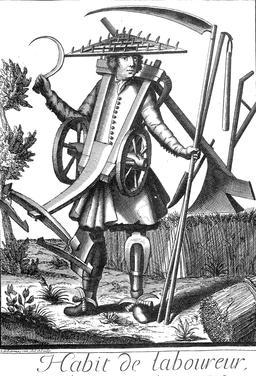 Habit de laboureur au 17ème siècle. Source : http://data.abuledu.org/URI/592c7c4b-habit-de-laboureur-au-17eme-siecle