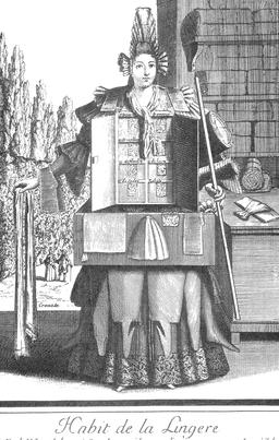 Habit de lingère au 17ème siècle. Source : http://data.abuledu.org/URI/592c7e66-habit-de-lingere-au-17eme-siecle