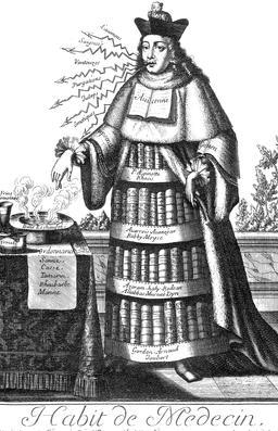 Habit de médecin au 17ème siècle. Source : http://data.abuledu.org/URI/592c9a30-habit-de-medecin-au-17eme-siecle