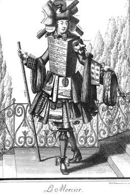 Habit de mercier au 17ème siècle. Source : http://data.abuledu.org/URI/592c9645-habit-de-mercier-au-17eme-siecle