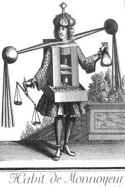 Habit de monnayeur-banquier au 17ème siècle. Source : http://data.abuledu.org/URI/592c9894-habit-de-monnayeur-banquier-au-17eme-siecle
