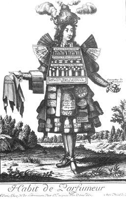 Habit de parfumeur au 17ème siècle. Source : http://data.abuledu.org/URI/592c9ac9-habit-de-parfumeur-au-17eme-siecle