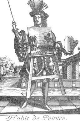 Habit de peintre au 17ème siècle. Source : http://data.abuledu.org/URI/592c9c94-habit-de-peintre-au-17eme-siecle
