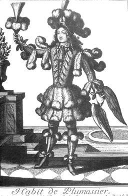 Habit de plumassier au 17ème siècle. Source : http://data.abuledu.org/URI/59314c45-habit-de-plumassier-au-17eme-siecle