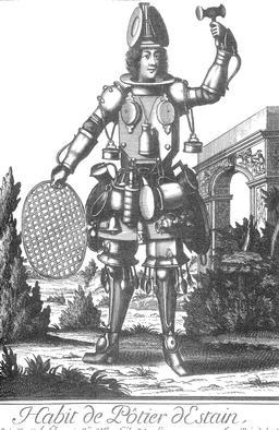 Habit de potier d'étain au 17ème siècle. Source : http://data.abuledu.org/URI/5931724f-habit-de-potier-d-etain-au-17eme-siecle