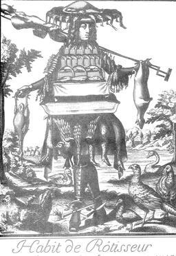 Habit de rôtisseur au 17ème siècle. Source : http://data.abuledu.org/URI/59317904-habit-de-rotisseur-au-17eme-siecle