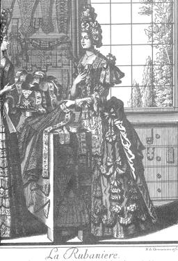 Habit de rubanière au 17ème siècle. Source : http://data.abuledu.org/URI/593177ce-habit-de-rubaniere-au-17eme-siecle