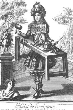 Habit de sculpteur au 17ème siècle. Source : http://data.abuledu.org/URI/59317a4a-habit-de-sculpteur-au-17eme-siecle