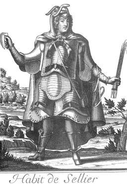 Habit de sellier au 17ème siècle. Source : http://data.abuledu.org/URI/59317d30-habit-de-sellier-au-17eme-siecle
