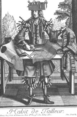 Habit de tailleur au 17ème siècle. Source : http://data.abuledu.org/URI/592a4c58-habit-de-tailleur-au-17eme-siecle