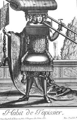 Habit de tapissier au 17ème siècle. Source : http://data.abuledu.org/URI/592a4982-habit-de-tapissier-au-17eme-siecle