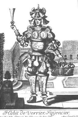 Habit de verrier-faïencier au 17ème siècle. Source : http://data.abuledu.org/URI/592a4234-habit-de-verrier-faiencier-au-17eme-siecle