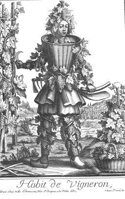 Habit de vigneron au 17ème siècle. Source : http://data.abuledu.org/URI/592a4624-habit-de-vigneron-au-17eme-siecle