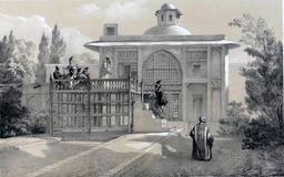 Habitation d'un Khan en Iran en 1840. Source : http://data.abuledu.org/URI/53dfca22-habitation-d-un-khan-en-iran-en-1840
