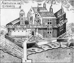 Habitation de Champlain à Quebec. Source : http://data.abuledu.org/URI/511530ec-habitation-de-champlain-a-quebec