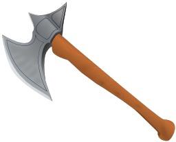 Hache de combat médiévale. Source : http://data.abuledu.org/URI/504a30fc-hache-de-combat-medievale
