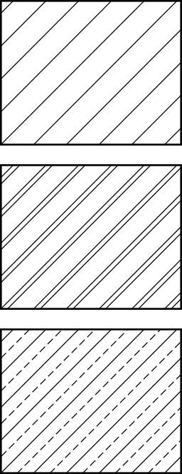 Hachures de représentation des métaux. Source : http://data.abuledu.org/URI/51a5a5d6-hachures-de-representation-des-metaux