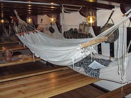 Hamac marin du dix-neuvième siècle. Source : http://data.abuledu.org/URI/53526d7f-hamac-marin-du-dix-neuvieme-siecle