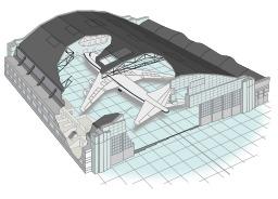 Hangar pour avion. Source : http://data.abuledu.org/URI/5648bf25-hangar-pour-avion