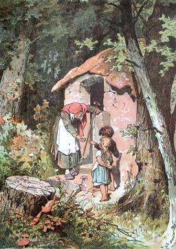 Hänsel et Gretel avec la sorcière. Source : http://data.abuledu.org/URI/534e77bd-hansel-et-gretel-avec-la-sorciere