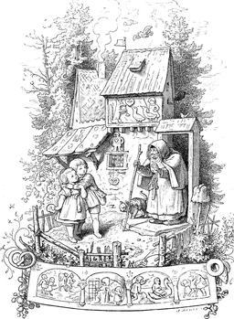 Hansel et Gretel en 1903. Source : http://data.abuledu.org/URI/534e78f4-hansel-et-gretel-en-1903