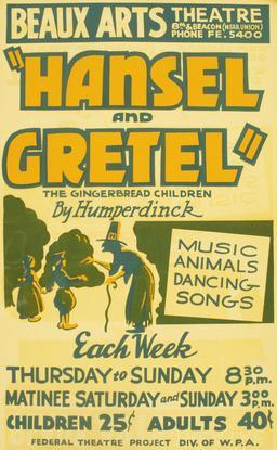 Hansel et Gretel en comédie musicale. Source : http://data.abuledu.org/URI/534e7541-hansel-et-gretel-en-comedie-musicale-