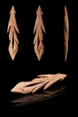 Harpon en os préhistorique. Source : http://data.abuledu.org/URI/5123240d-harpon-en-os-prehistorique