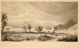 Havre Dubus en Nouvelle-Guinée en 1838. Source : http://data.abuledu.org/URI/598165f7-havre-dubus-en-nouvelle-guinee-en-1838