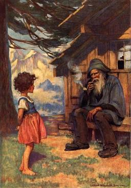 Heidi et son grand-père. Source : http://data.abuledu.org/URI/511ba968-heidi-et-son-grand-pere