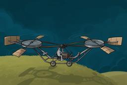 Hélicoptère de Paul Cornu. Source : http://data.abuledu.org/URI/55a0b978-helicoptere-de-paul-cornu