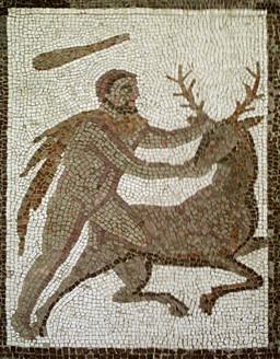 Hercule et la biche de Cérynie. Source : http://data.abuledu.org/URI/53aed3b5-hercule-et-la-biche-de-cerynie