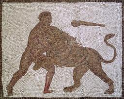Hercule et le lion de Némée. Source : http://data.abuledu.org/URI/53aebe9d-hercule-et-le-lion-de-nemee