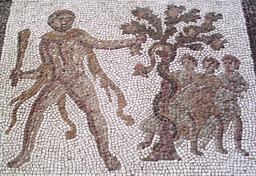 Hercule et le pommier des Hespérides. Source : http://data.abuledu.org/URI/53aeda81-hercule-et-le-pommier-des-hesperides