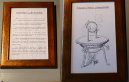 Héron d'Alexandrie au musée des automates. Source : http://data.abuledu.org/URI/582223b8-heron-d-alexandrie-au-musee-des-automates