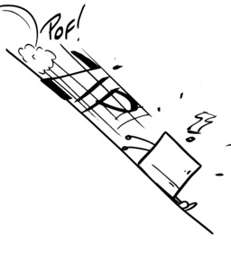 Hervé le carré glisse le long de la pente. Source : http://data.abuledu.org/URI/54ab0b6b-herve-le-carre-glisse-le-long-de-la-pente