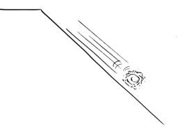 Hervé le carré roule le long de la pente. Source : http://data.abuledu.org/URI/54adc526-herve-le-carre-roule-le-long-de-la-pente