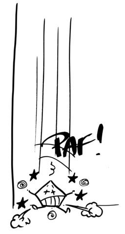 Hervé le carré s'écrase au sol. Source : http://data.abuledu.org/URI/54ac75d7-herve-le-carre-s-ecrase-au-sol