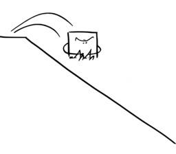 Hervé le carré saute. Source : http://data.abuledu.org/URI/54ab0a4b-herve-le-carre-saute