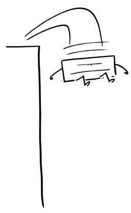 Hervé le carré se précipite dans le vide. Source : http://data.abuledu.org/URI/54ab160a-herve-le-carre-se-precipite-dans-le-vide