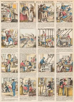 Histoire d'un crayon en seize vignettes. Source : http://data.abuledu.org/URI/546fe912-histoire-d-un-crayon-en-seize-vignettes