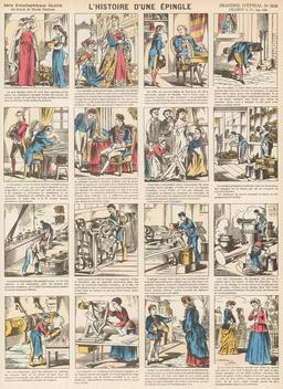 Histoire d'une épingle en seize vignettes. Source : http://data.abuledu.org/URI/546fe32e-histoire-d-une-epingle-en-seize-vignettes