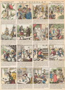 Histoire du chocolat en seize vignettes. Source : http://data.abuledu.org/URI/546fe7c2-histoire-du-chocolat-en-seize-vignettes