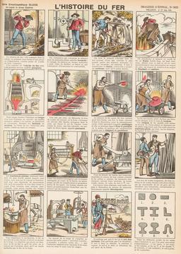 Histoire du fer en seize vignettes. Source : http://data.abuledu.org/URI/546fcf0b-histoire-du-fer-en-seize-vignettes