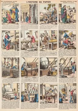 Histoire du papier en seize vignettes. Source : http://data.abuledu.org/URI/546fc7a3-histoire-du-papier-en-seize-vignettes