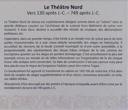 Histoire du Théâtre Nord de Jerash. Source : http://data.abuledu.org/URI/54b44fd2-histoire-du-theatre-nord-de-jerash