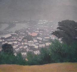 Honfleur dans la brume. Source : http://data.abuledu.org/URI/535ed7be-honfleur-dans-la-brume