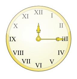 Horloge à chiffres romains. Source : http://data.abuledu.org/URI/529a383c-horloge-a-chiffres-romains