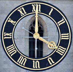 Horloge avec chiffres romains. Source : http://data.abuledu.org/URI/50ddb646-horloge-avec-chiffres-romains