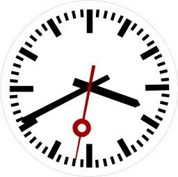 Horloge avec les trois aiguilles. Source : http://data.abuledu.org/URI/50ddb2d5-horloge-avec-les-trois-aiguilles
