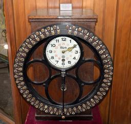 Horloge du contrôle du personnel en 1881. Source : http://data.abuledu.org/URI/55020282-horloge-du-controle-du-personnel-en-1881